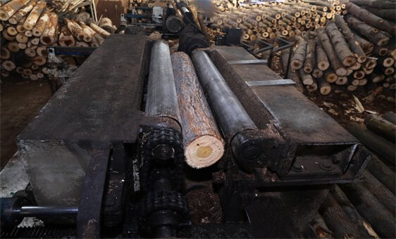 Logs are Processed to Get Desired Pallets